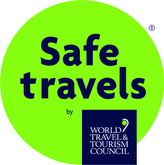 "World Travel and Tourism Council (WTTC) International 'Safe Travels"" stamp"